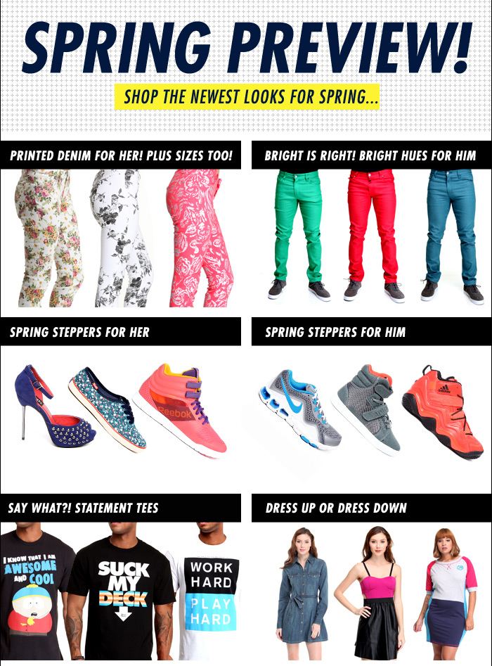 DrJays.com Shop the Newest Looks for Spring.