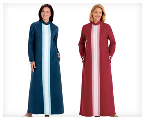 Colorblock Fleece Robe