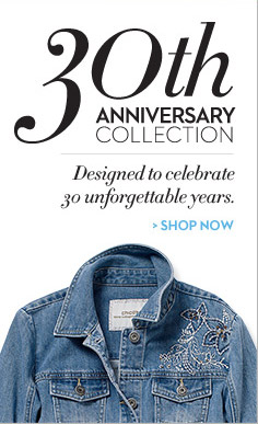 30th Anniversary Collection Designed to celebrate 30 unforgettable years.  SHOP NOW