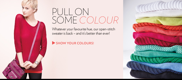 Whatever your favourite hue, our open-stitch sweater is back – and it's better than ever!