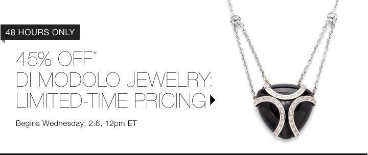 45% Off* Di Modolo Jewelry…Shop Now