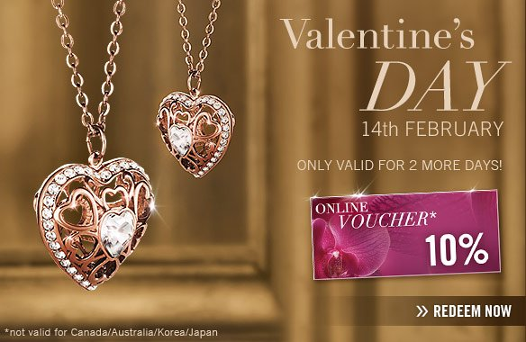 VALENTINES DAY Online Voucher ONLY VALID for 2 more days