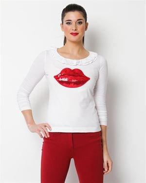 Love Moschino Puckered Lip Shirt