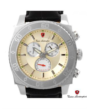 Brand New TONINO LAMBORGHINI Stainless Steel and Leather Watch