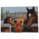 Leanin Tree Horses and Cat Christmas Card 10 Pack