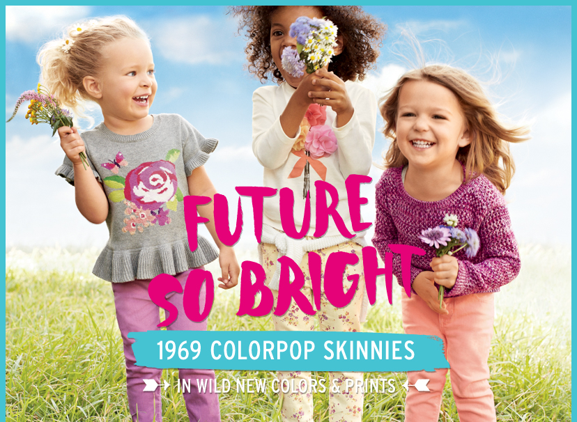 FUTURE SO BRIGHT - 1969 COLORPOP SKINNIES IN WILD NEW COLORS & PRINTS