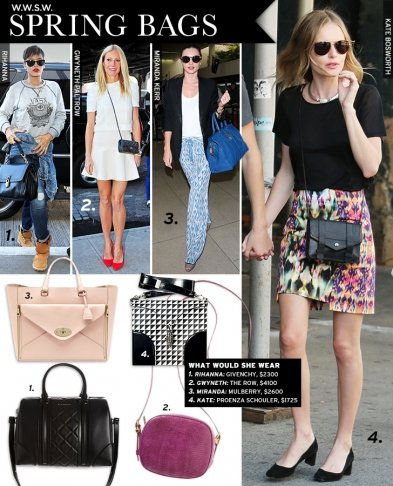 What Would She Wear: Spring 13 Bags