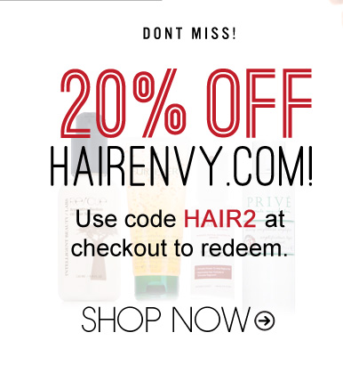 Don't Miss: 20% Off HairEnvy Use code HAIR2 at checkout to redeem. Shop Now>>