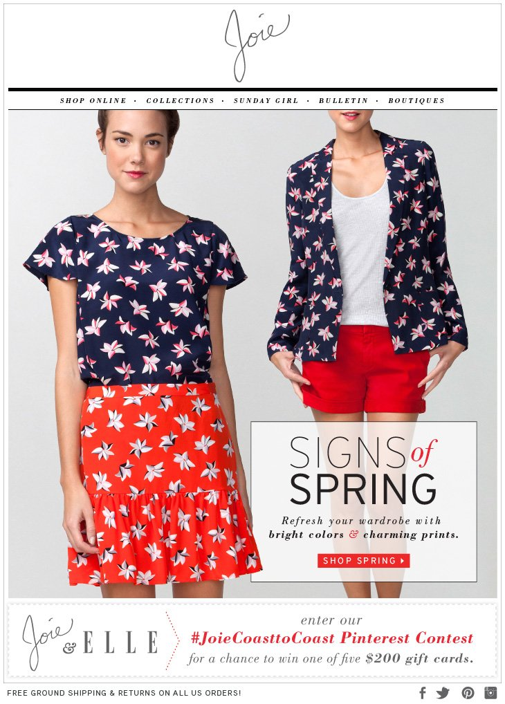 SIGNS of SPRING Refresh your wardrobe with bright colors & charming prints. SHOP SPRING>