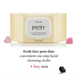 fresh face post-date - convenient one-step facial cleansing cloths - buy now