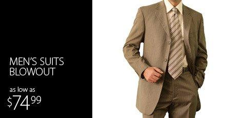 Men's Suits Blowout