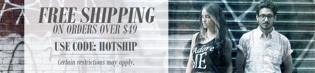 Free Shipping on ALL orders over $49!