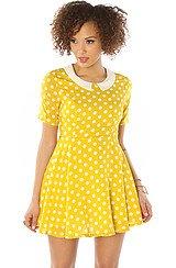 The Spot On Mini Dress in Mustard