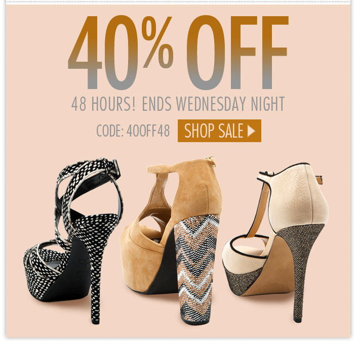 Enjoy an additional 40% OFF select Shoes, Apparel and Accessories. Ends Wednesday. Use code: 40OFF48