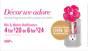 Wallflowers Fragrance Plugs & Bulbs - 4 for $20
