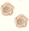 Flower Swirl Button Earring