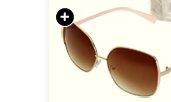Square Frame Blocked Sunglasses