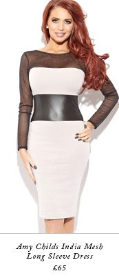 Amy Childs India Mesh Long Sleeve Dress