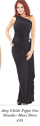 Amy Childs Pippa One Shoulder Maxi Dress