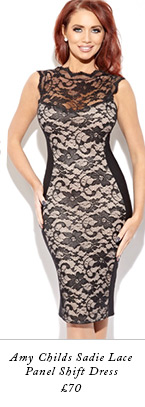 Amy Childs Sadie Lace Panel Shift Dress