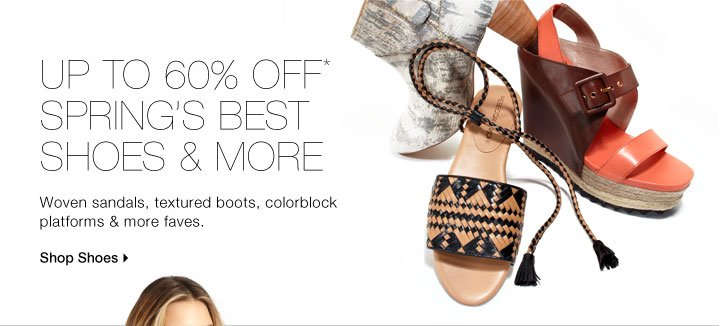 Up To 60% Off Spring's Best Shoes & More