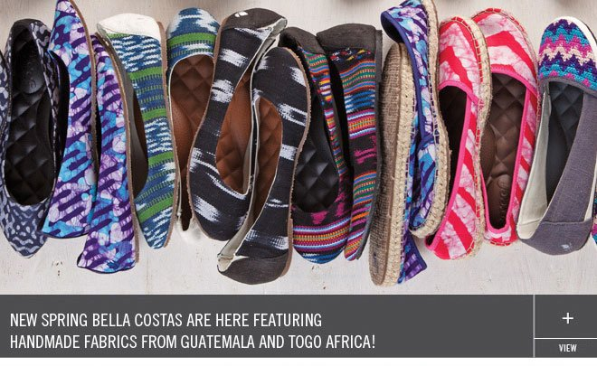 New Spring Bella Costas Are Here Featuring Handmade Fabrics from Guatemala and Togo Afica