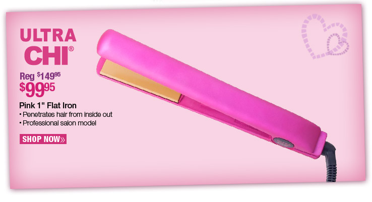 Ultra CHI Pink 1 in. Flat Iron - $99.95. Reg. $149.95. Shop Now.