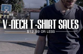 V-Neck T-Shirt Sales