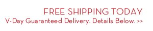 FREE SHIPPING TODAY V-DAY Guaranteed Delivery. Details Below.