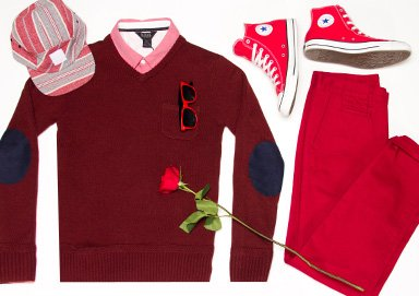 Shop Cop Cupid's Look: Head-to-Toe Red