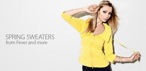 spring sweaters from fever and more