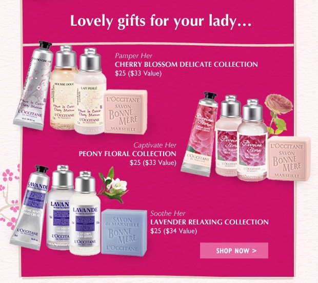 Lovely gifts for your lady