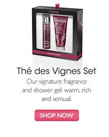 Thé des Vignes Gift Set: Our signature fragrance and shower gel: warm, rich and sensual | SHOP NOW