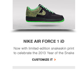 NIKE AIR FORCE 1 iD | Now with limited-edition snakeskin print to celebrate the 2013 Year of the Snake | CUSTOMIZE IT
