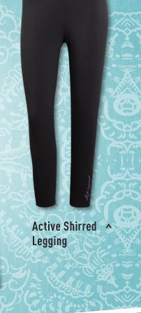 Active Shirred Legging