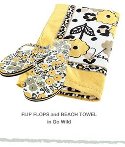 Flip Flops and Beach Towel in Go Wild