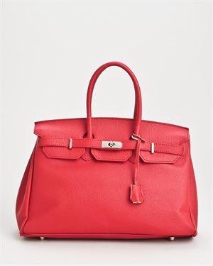 Bright Genuine Leather Flap Closure Satchel $109
