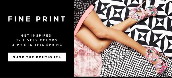 Get Artistic Inspiration in Our Lively 'Fine Print' Boutique - Shop Now