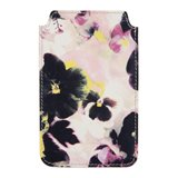 Paul Smith Phone Case - Hazy Pansies Print Leather iPhone Case
