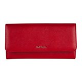 Paul Smith Purses - Red Saffiano Leather Tri-Fold Purse