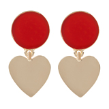Paul Smith Jewellery - Burgundy Love Heart Earrings