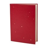Paul Smith Stationery - Red Saffiano Leather Alphabet Notebook