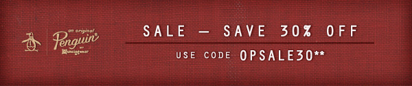 SAVE 30% OFF WITH CODE OPSALE30