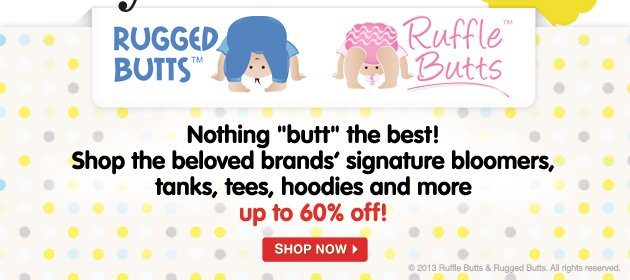 "Nothing ""butt"" the best! Shot the beloved brands' signature bloomers, tanks, tees, hoodies and more. Up to 60% off!"