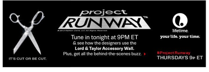 Tune in to Project Runway tonight