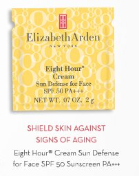 SHIELD SKIN AGAINST SIGNS OF AGING. Eight Hour® Cream Sun Defense for Face SPF 50 Sunscreen PA+++