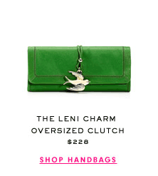 THE LENI CHARM OVERSIZED CLUTCH $228 - SHOP HANDBAGS