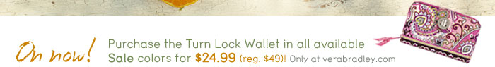 Purchase the Turn Lock Wallet in all available sale colors for $24.99.