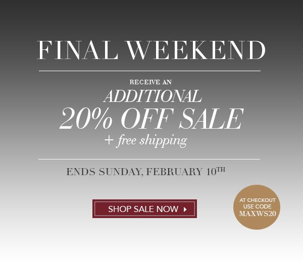 additional 20% off sale