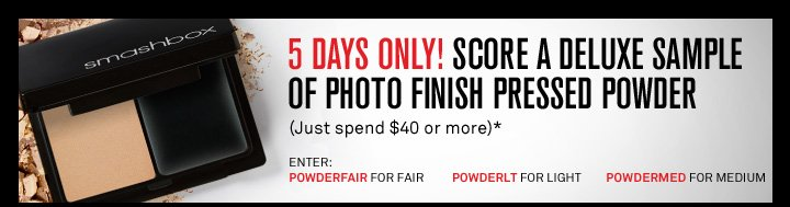 5 Days Only! Deluxe Sample of Photo Finish Pressed Powder